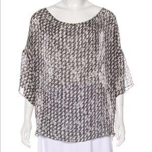 Stella McCartney Abstract Print Silk Blouse